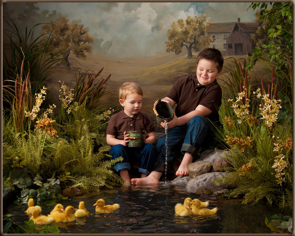 Easter portrait art brothers